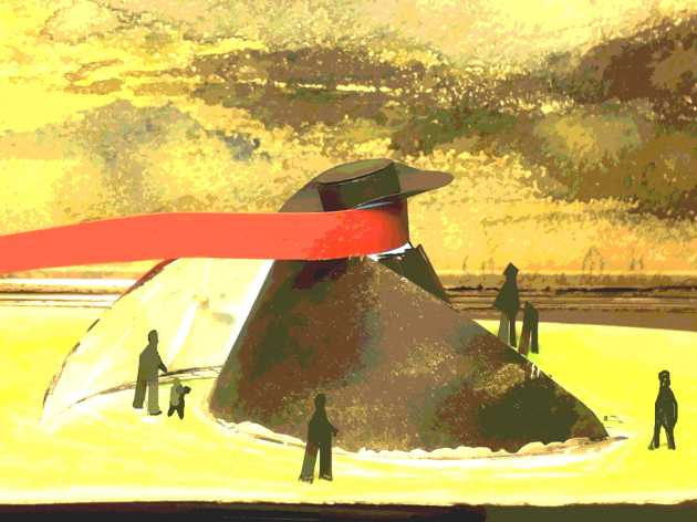 modellino del monumento a Fellini