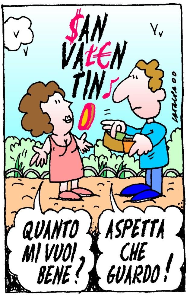 00.02.14 - SAN VALENTINO - più che un piacere diventa un obbligo ... oneroso ! (colore)