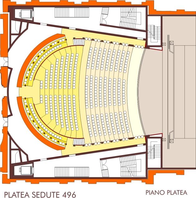 Pianta Platea Sala Nuovo Teatro Galli Rimini